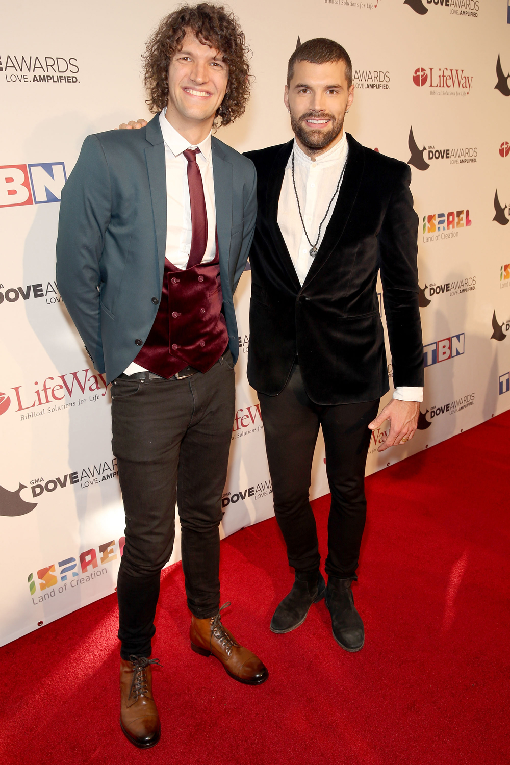 Luke l and Joel Smallbone at Dove Awards