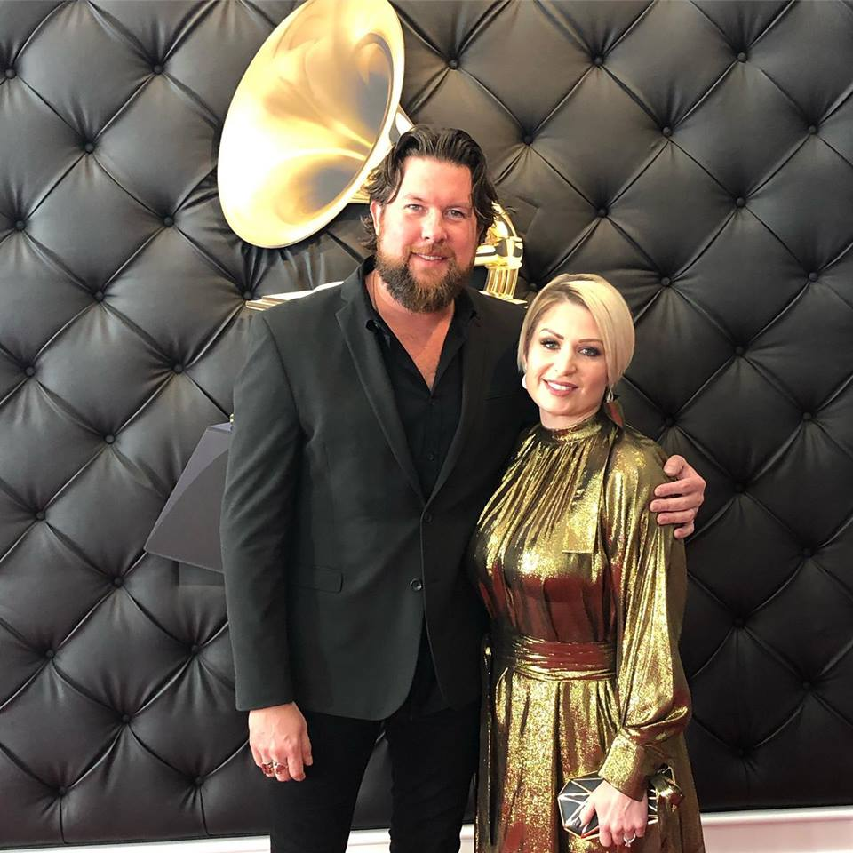 Williams Zach w wife at 2019 Grammys